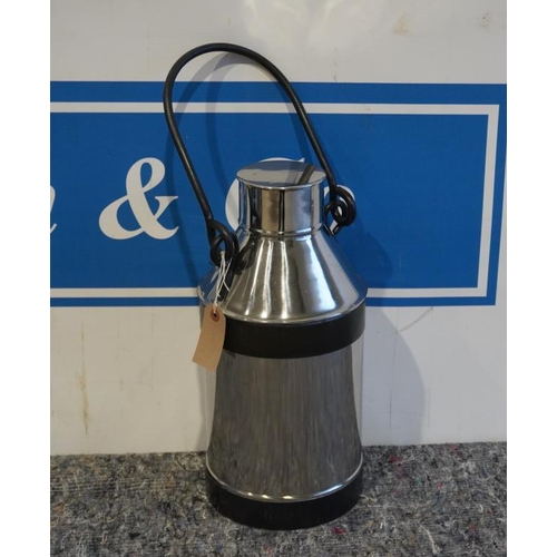 30 - Stainless steel milk churn...