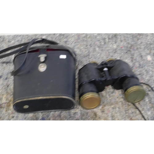 46 - Wyeval binoculars in case...