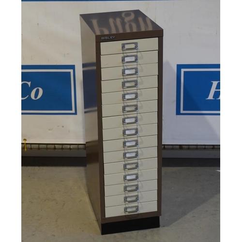 53 - Bisley 16 drawer filing cabinet...