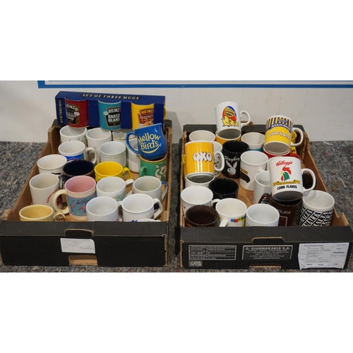 57 - 2 Boxes of collectable mugs...