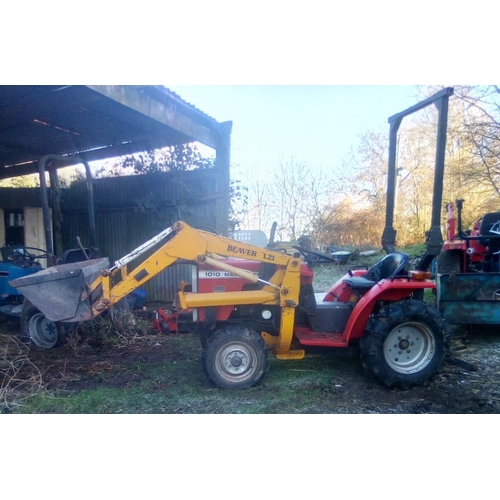 1547 - Massey Ferguson 1010 tractor. 4WD with power loader. New battery, manual. Used regularly with 4ft to...