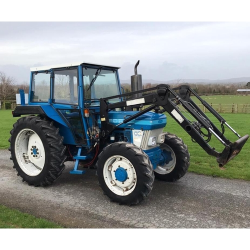 1553 - Ford 4610 4WD tractor with Trima loader, very tidy, 2310 hours recorded, reg B965 MRF...