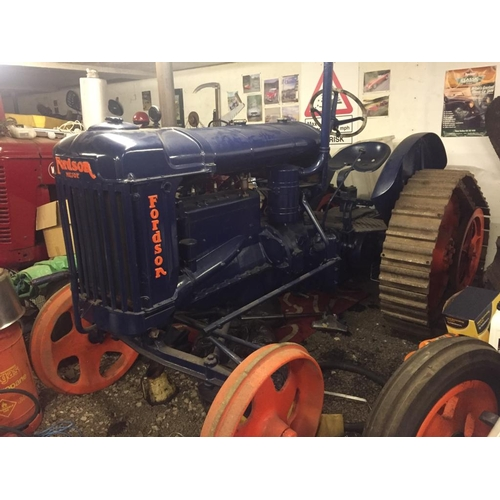 1557 - Fordson E27N half track tractor, restored...