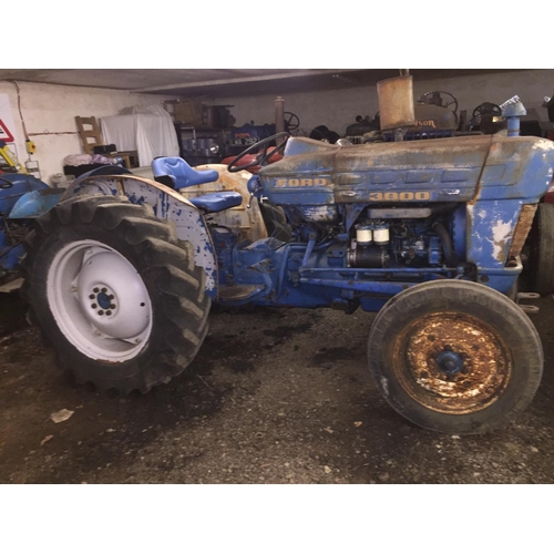 1558 - Ford Pre Force 3000 Select-O-Speed tractor. New rear wheels and tyres...