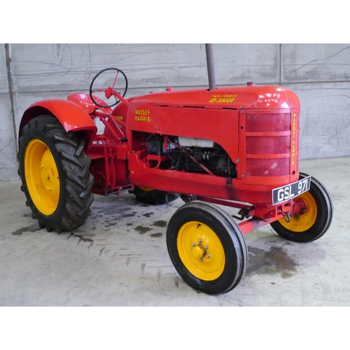 1566 - Massey Harris 101 Junior petrol/TVO tractor. Restored, runs and drives, Reg no. GSL 971....