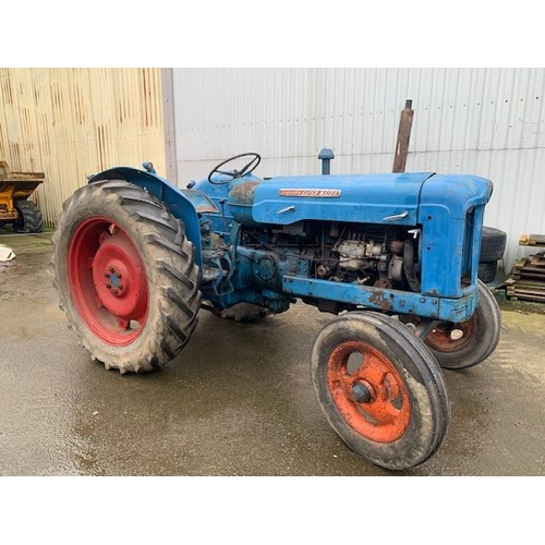 1580 - Fordson Super Major tractor. 1961. Supplied by Curtis & Horn of Oxford. Starts and runs, original. R...