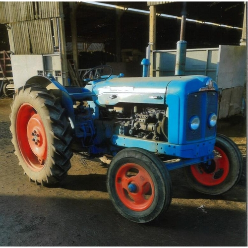 1585 - Fordson Super Major tractor. 1963. Blue/orange. In excellent working order. Correct wheels and tyres...