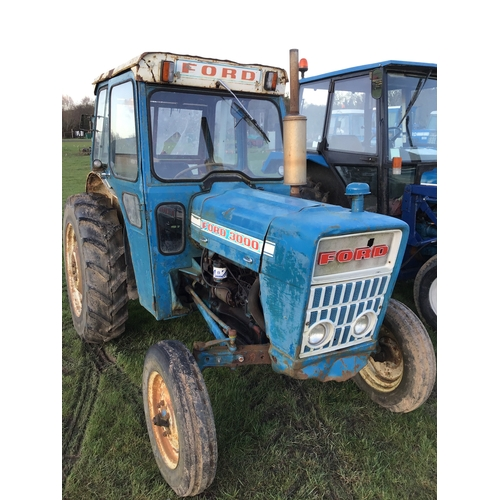 1583 - Ford 3000 tractor with cab. V5 present +VAT...