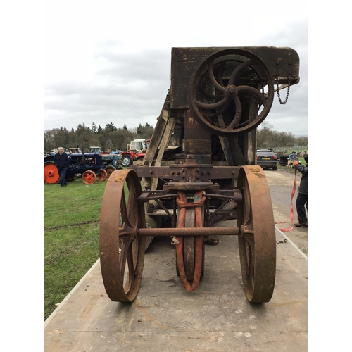 1546 - Innes Son and King Ltd chaff cutter on 3 iron wheels. Very rare...