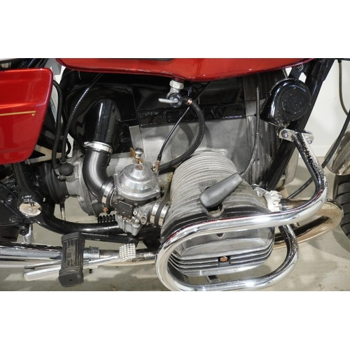 357 - BMW R80 Motorcycle. 1980. 797cc. Matching engine and frame numbers. Very tidy machine. Runs well. MO...
