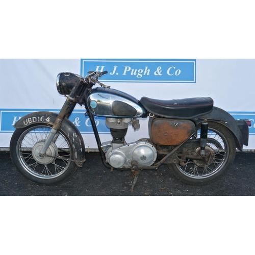 358 - AJS 350 motorcycle. 1959. Engine no. 59/1637749. Frame no. A700050. Reg. UBD 164. No docs...
