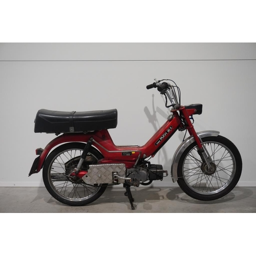 362 - Puch Maxi motorcycle. 40cc. 1980. 11247 miles. One owner from new. C/w service books. Matching engin...