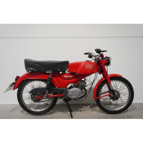 367 - Moto Guzzi Hispania Dingo motorcycle. 1965. 49cc. Frame Number - MGHD11302048. One owner from new. C...