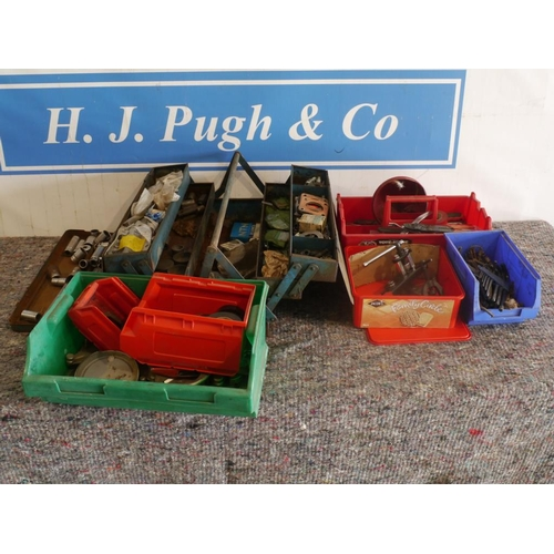 1 - Large quantity of nuts, bolts & workshop tools...