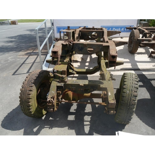 27 - Land Rover chassis x2...