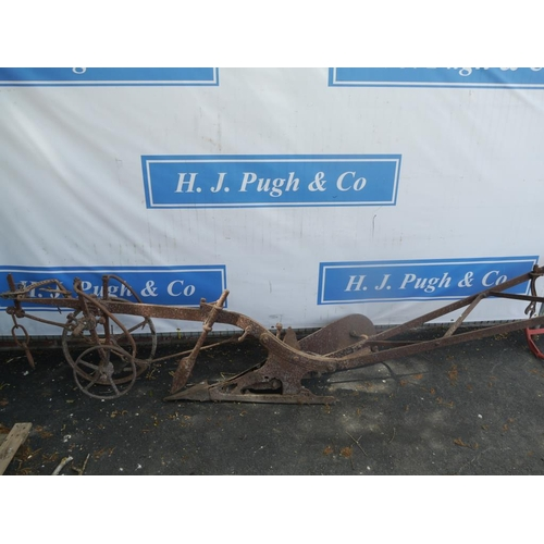 35 - Horse drawn single furrow plough...