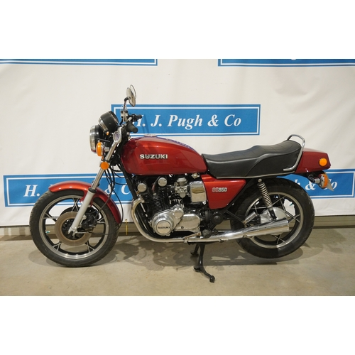 377 - Suzuki GS850 motorcycle. 1979. Starts and runs well, just had a recent service. Many brand new parts...