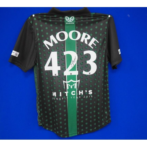 29 - Worcestershire County cricket club shirt worn at Darryll Mitchell benefit game 2016, name, numbered ...