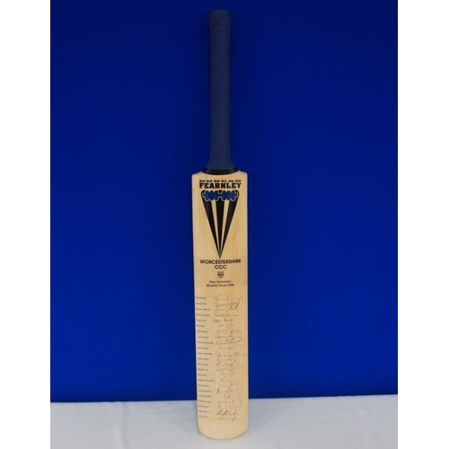 44 - Autographed cricket bat of 1998 Phil Newport benefit year signed by Hick, Moody, Rhodes, Illingworth...