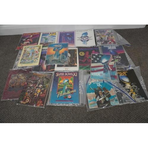 60 - Super Bowl programmes, games IV VI, VII, VIII, IX, X, XI, XII, XIII (2), XIV, XV, XVI, XVII, XVIII, ...