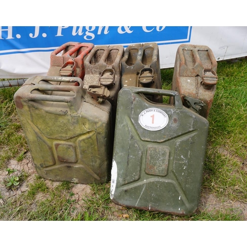 1 - 6 Jerry cans...