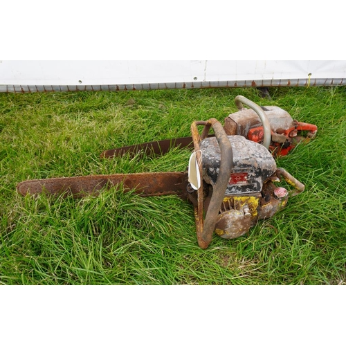 25 - Early Danarm chainsaw and Jonsered chainsaw...