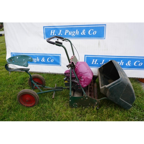 28 - Atco B30 Royal cylinder mower with seat...