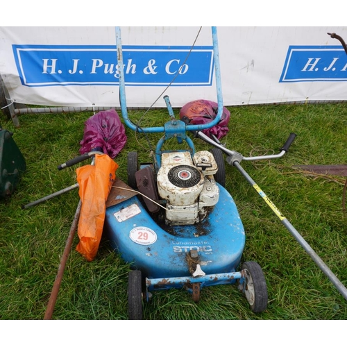 29 - Land Master mower and 2 strimmers...