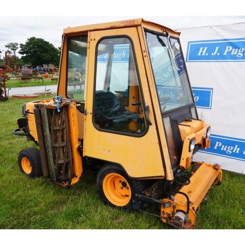 40 - Agri triple gang mower with cab. Model 9300. Diesel. Runs. Key...