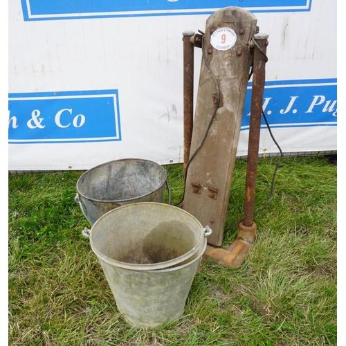 9 - Egg washer and bucket...