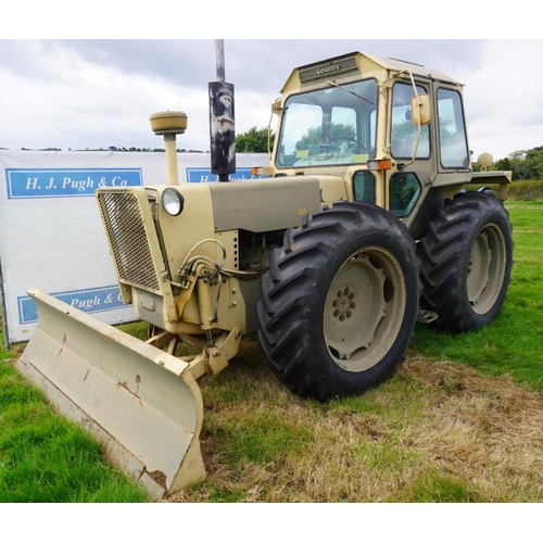99 - County 1184 military tractor, Agricultural specification, manual gearbox, with blade. Only 400 hours...
