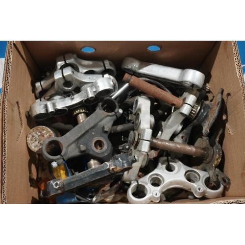 36 - Box of motorcycle forks & yokes...