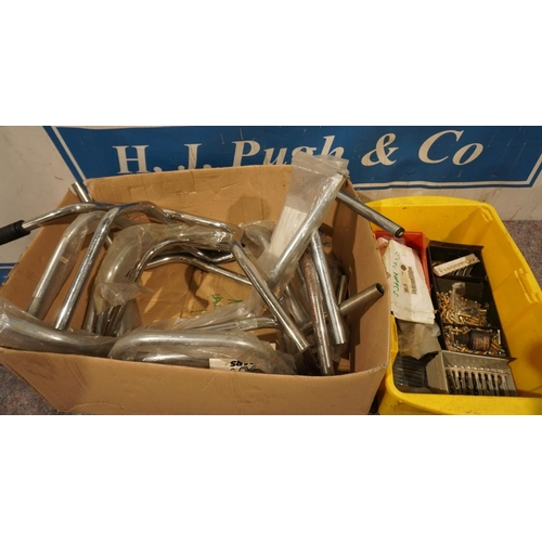 46 - Handle bars & fuses NOS...