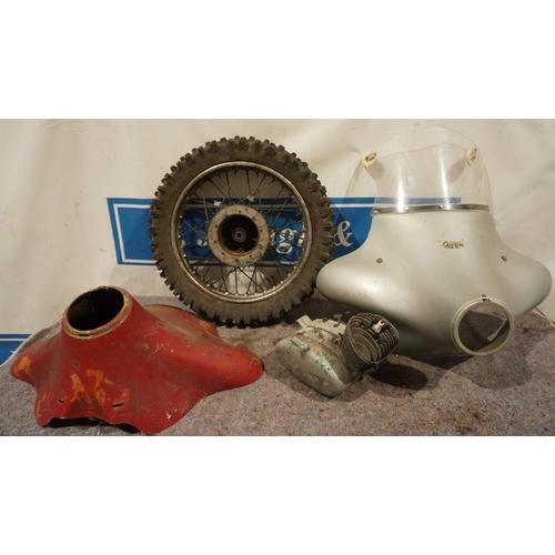 49 - Bultaco wheel & tyre, Puch engine & Avon fairings...