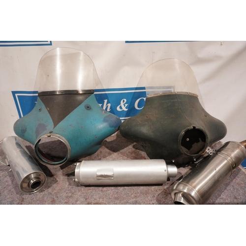 54 - Motorcycle fairings & BMW silencers...