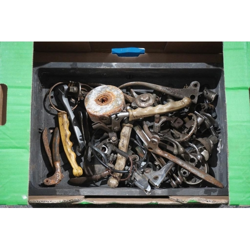 7 - Box of handlebar control levers & air levers etc...