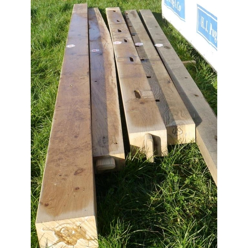 645 - Oak beam, machined 4.6M 150x100 +VAT...