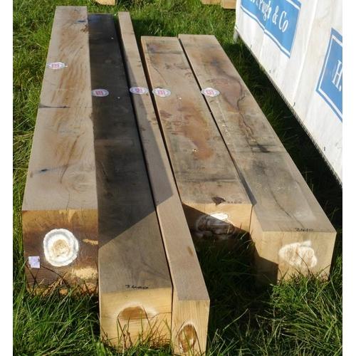 653 - Oak beam 3.4M 180x180 +VAT...