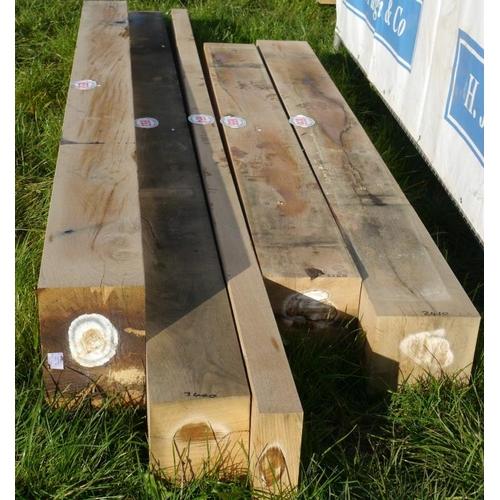654 - Oak beam 3.4M 80x200 +VAT...