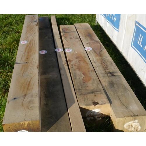 655 - Oak beam 2.15M 215x200 +VAT...