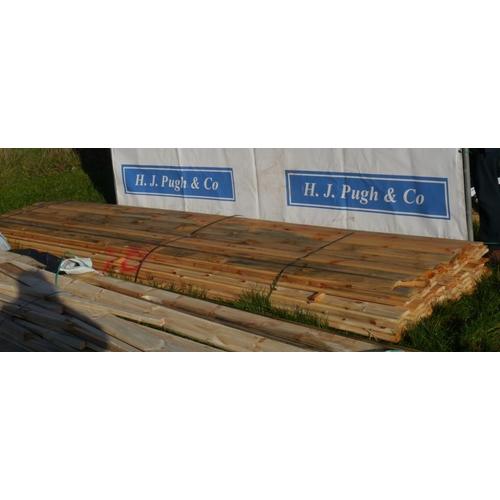 611 - Bevel edged T&G boards 4.2M +VAT...