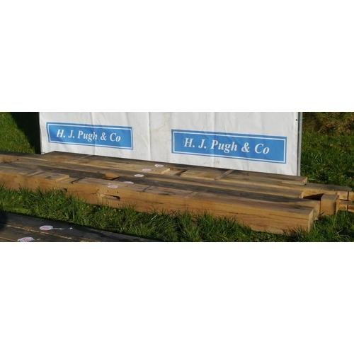 638 - Oak beam, machined 3.65M 180x200 +VAT...