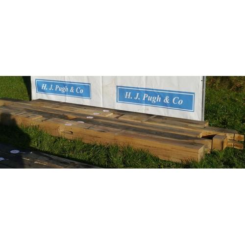 639 - Oak beam, machined 4.25M 200x180 +VAT...