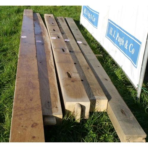 642 - Oak beam, machined 4.8M 220x100 +VAT...