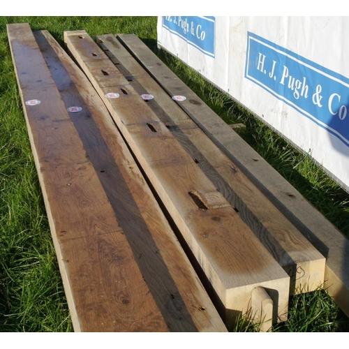 643 - Oak beam, machined 4.25M 200x150 +VAT...