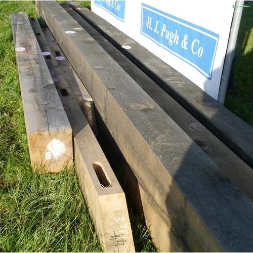 647 - Oak beam, machined 4.15M 100x200 +VAT...