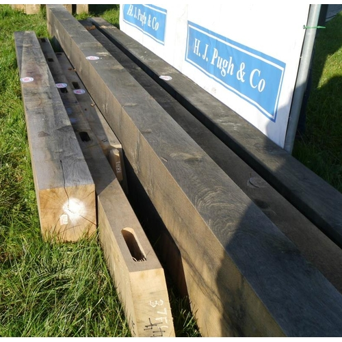 648 - Oak beam, machined 2.55M 100x200 +VAT...