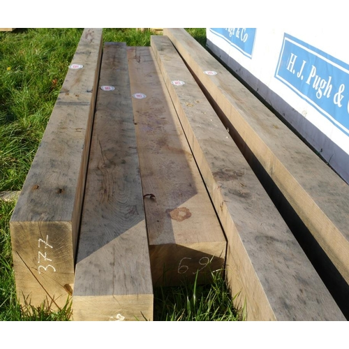 661 - Oak beam 3.35M 230x150 +VAT...