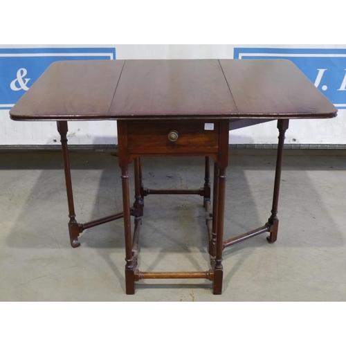 4 - Mahogany gate leg table 36x26 1/2
