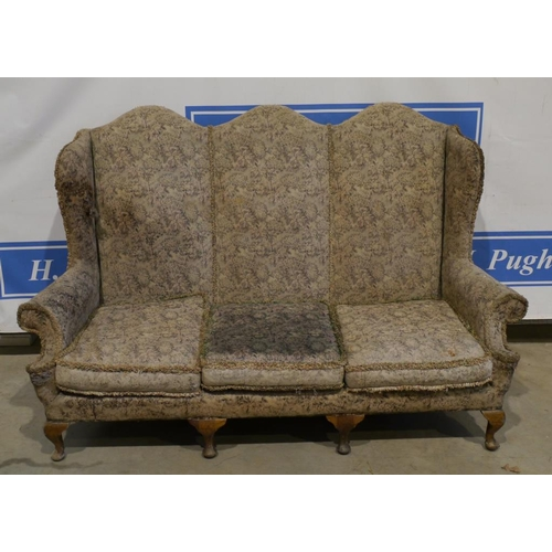 43 - High back upholstered 3 seater sofa...